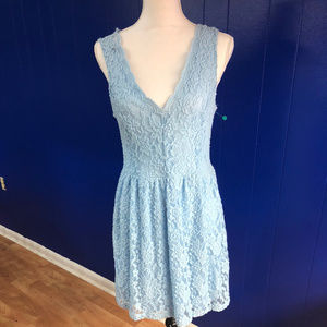Delicate Knit Baby blue Fit and Flare Dress NWT